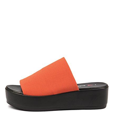 I LOVE BILLY Kiara Womens Heels Womens Shoes Orange Fabric