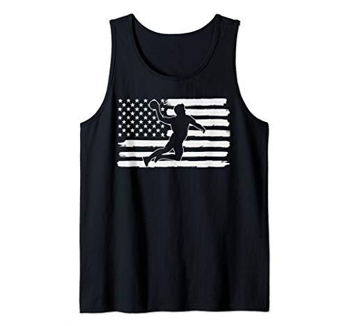 Handball Player 4th Of July USA Flag Tank Top