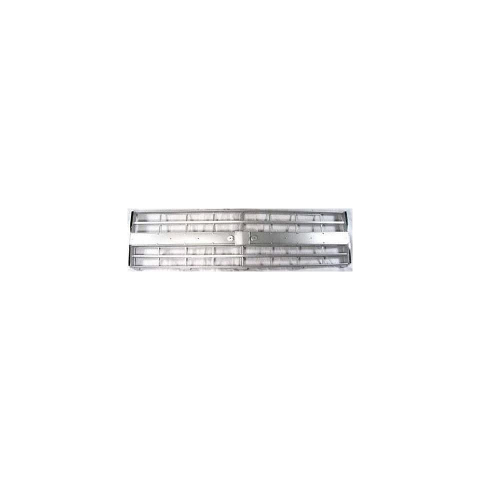 85 87 CHEVY CHEVROLET FULL SIZE PICKUP fullsize GRILLE TRUCK, With Molding Holes, Argent (1985 85 1986 86 1987 87) 6726 15554911