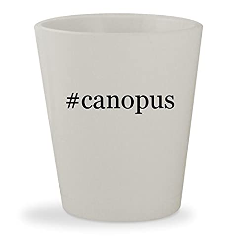 #canopus - White Hashtag Ceramic 1.5oz Shot Glass (Canopus Hi Hat)