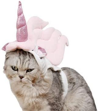 Lanyarco Cute Unicorn Costume Halloween Accessory for Cats Small Pets 16