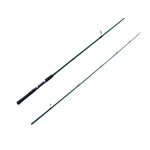 CarbonZeal 2-Piece Strong and Lightweight Portable Spinning Fishing Rod Stick Two-Piece Fiberglass Travel Spinning Lure Spin Fishing Pole for Saltwater Freshwater Sea Offshore Surf Fishing 7' MH