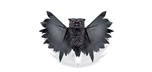 Animated Spooky Outdoor Owl Halloween Decoration and Prop, 44