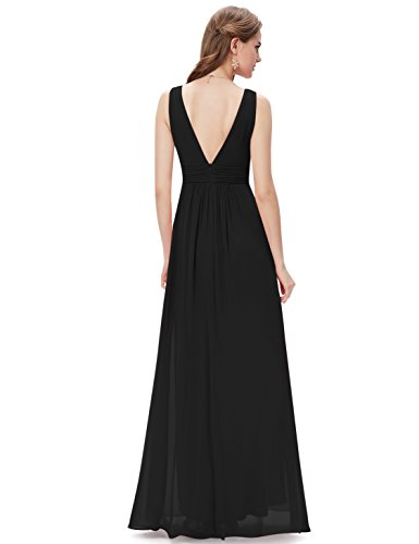 Ever-Pretty Womens Floor Length Semi Formal Evening Dress 8 US Black by Ever-Pretty (Image #2)