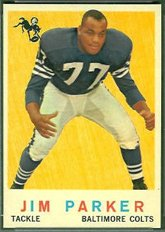 1959 Topps Regular (Football) Card# 132 Jim Parker of the Baltimore Colts VGX Condition