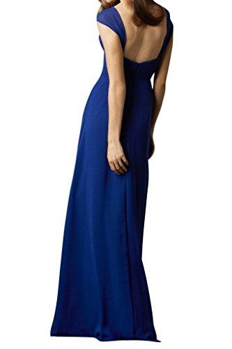 Linie Damen Promkleid Einfach A Festkleid Traeger Ivydressing Chiffon Abendkleid Royalblau T7IHB