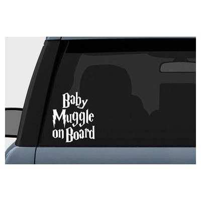 "Harry Potter Baby Muggle on Board Vinyl Decal Sticker (5.5"" inches (White): Automotive"