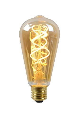 Lucide LED Bulb – Filament lamp – diametro 6,4 cm – LED Dimb. – E27 – 1x5W 2200K – Amber, 1 x 1 x 14.6 cm