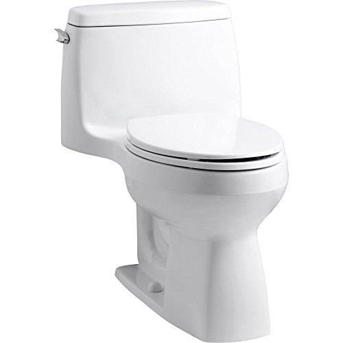 Santa Kohler (Kohler 3811-0 Santa Rosa Comfort Height Elongated 1.6 GPF Toilet with AquaPiston Flush Technology and Left-Hand Trip Lever, White)