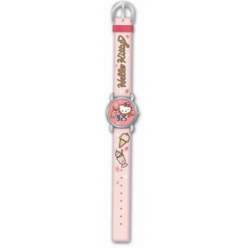 Hello Kitty HK25134 Reloj digital para niña, de cuarzo con correa de plástico rosa e ilustraciones de Hello Kitty: Amazon.es: Relojes