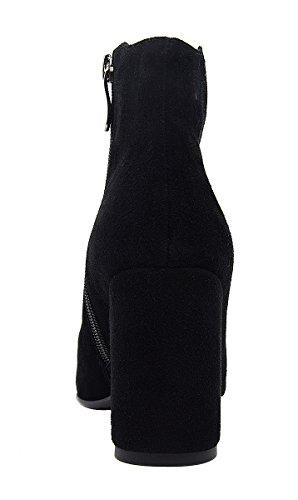 402 Talla Alta Zapatilla Verocara 43 de M57 Color Mujer Negro Ante Rwq1xFZ