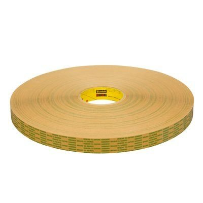 3M (465XL) Adhesive Transfer Tape Extended Liner 465XL Translucent, 1/2 in x 600 yd 2.0 mil