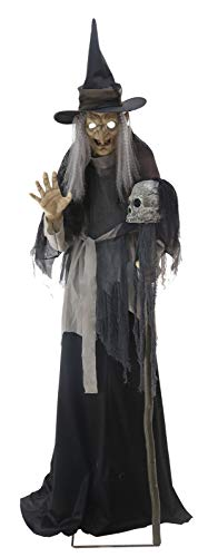 Online Discounts Lunging Haggard Witch Animated Lifesize 6ft