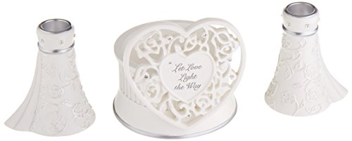 (Language of Love 3-Piece Unity Candle Set, 4.5-Inch)