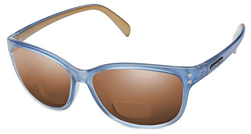 Suncloud Flutter Polarized Bi-Focal Reading Sunglasses in Periwinkle with Brown Lens - Reading Sunglasses Polarized