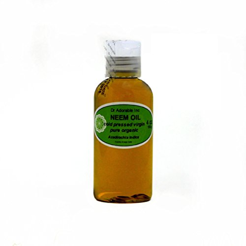 Neem Oil Organic Pure Cold Pressed by Dr. Adorable 4 oz