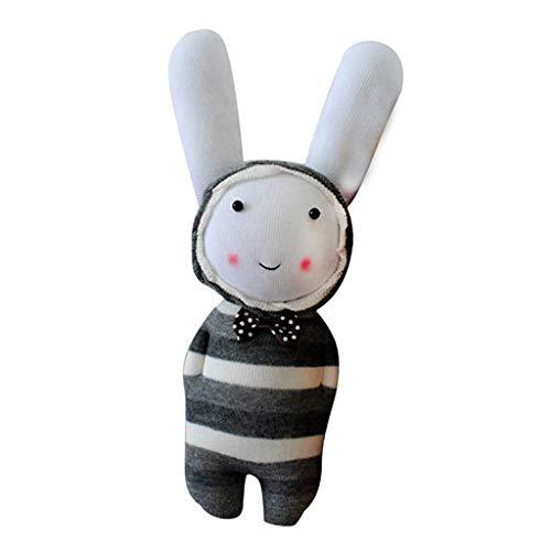 Baosity ぬいぐるみ作成キット 1セット DIY グレー うさぎ 靴下 おもちゃ 裁縫 クラフトキット 子供用