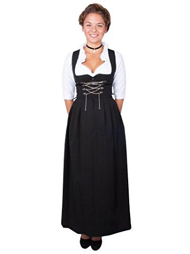 Stockerpoint Damen Dirndl lang Amber 96er Länger (54, schwarz)