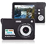 Digital Camera, Lyyes 2.7' Mini Camera HD 720P Digital Point Shoot Camera 8X Zoom Camera for Kids and Gifts (Black)
