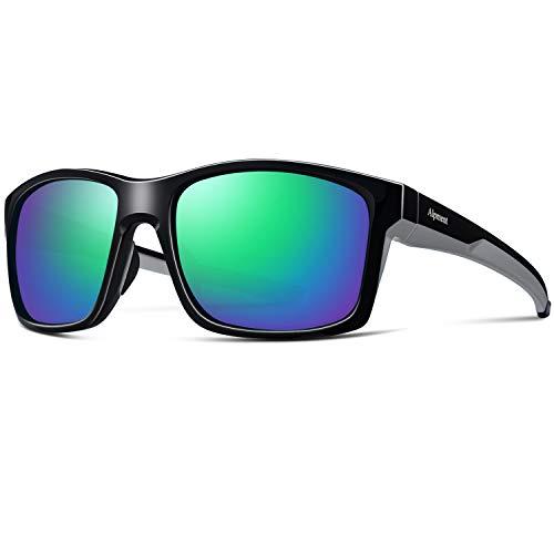 Alpment Polarized Sports Sunglasses for Men Women Cycling Running Driving Fishing Golf Baseball Glasses with Green Lens
