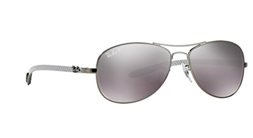 Ray-Ban Carbon Fiber Silver Mirror Polar Sunglasses RB 8301 004/N8 59mm +SD - Rb 8301