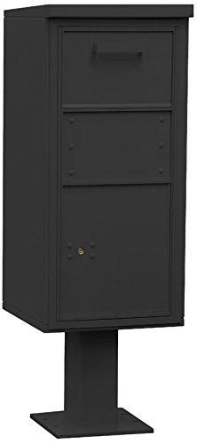 Salsbury Industries 3450blk Pedestalコレクションボックス、レギュラー、ブラック B00CLVGNQ6
