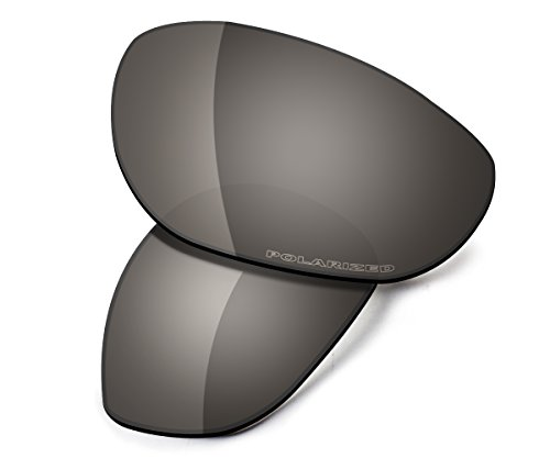 Saucer Premium Replacement Lenses & Rubber Kits for Oakley Monster Dog Sunglasses High Definition - Shield Black (Monster Sunglasses)