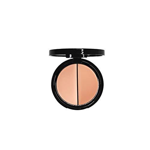 EVE PEARL Dual Salmon Concealer Full Coverage Under Eye Concealer Smooth Skin Treatment Brighten Makeup Hydrate Skincare (Medium)