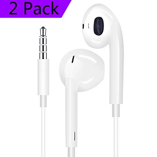 2 Pack Headphones/Earphones/Earbuds 3.5mm Wired Headphones N...