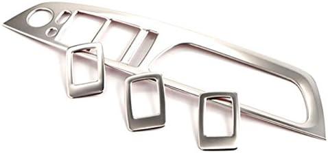 Steel Interior Door Handle Window Switches Trim 4PCS For BMW X5 E70 2008-2013