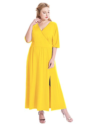 Ruched Surplice Dress - 2