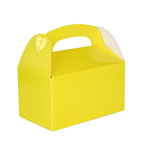 Yellow Bright Color Treat Boxes (Pack of 12) - Play Kreative TM - Box Party Yellow