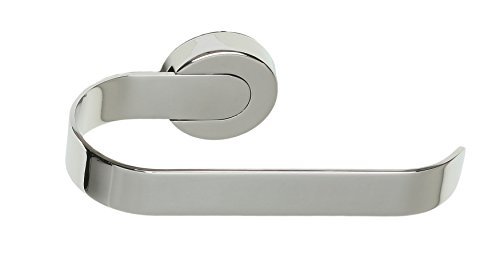Milo Contemporary Stainless Steel Wall Mounted Toilet Paper Holder, Chrome (Milo Paper)