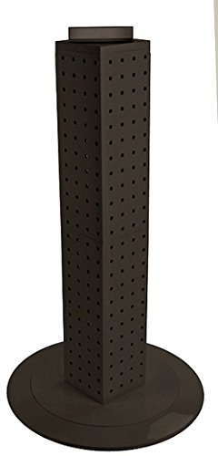 New Black Interlocking Pegboard Display with Revolving Base 4'' W x 4'' D x 24'' H by Pegboard Display