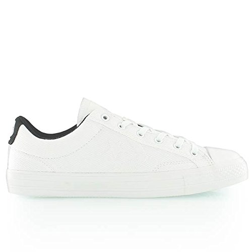 Converse Unisex Star Player (Converse Star Player Ox White White Mens Trainers (43 M EU / 9.5 F(M))