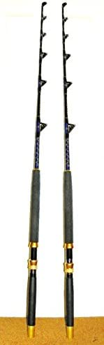 OKIAYA COMPOSIT 100-120LB Blueline Series Saltwater Big Game Roller Rod Set of 2