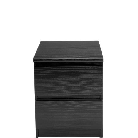 Laguna 2 Drawer Nightstand, Black