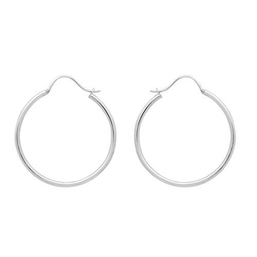 Shine Jewel 92.5 Sterling Silver Silver Hoop Earring For Wedding