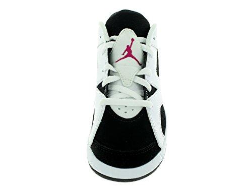 Nike Jordan 6 Retro Low Gp, Zapatillas de Deporte Para Niñas Blanco / Rosa / Negro (White / Sport Fuchsia-Black)
