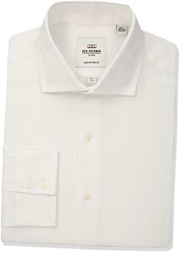 Ben-Sherman-Mens-Dobby-Royal-Spread-Slim-Fit-Dress-Shirt