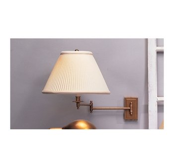 Robert Abbey 1504 Kinetic - One Light Wall/sconce, Antique Brass Finish with Natural Fabric Shade (Bronze Abbey Swing Arm)