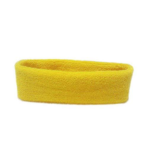(Women/Men Cotton Sweat Sweatband Headband Yoga Gym Stretch Head Band for Sport)