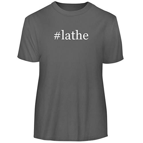 One Legging it Around #Lathe - Hashtag Men's Funny Soft Adult Tee T-Shirt, Grey, Large