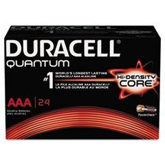 - Quantum Alkaline Batteries with Duralock Power Preserve Technology, AAA, 144/Ct by 5COU