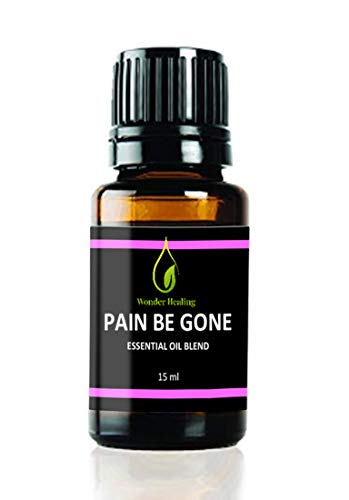Pain Be Gone Essential Oil (comparable to Panaway) - All-Natural Pain Remedy- (Clove, Helichrysum, Peppermint and Wintergreen) Fast Acting with High Success Rate -by Wonder Healing (15 ml)