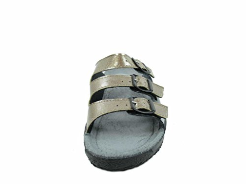 Rohde Donna Soltau-40 Muli In Pelle Verniciata Bronce