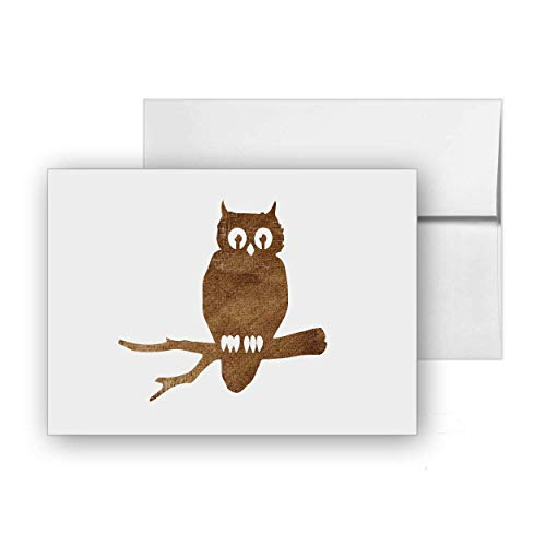 (Owl Branch Halloween Scarry, Blank Card Invitation Pack, 15 cards at 4x6, with White Envelopes, Item)