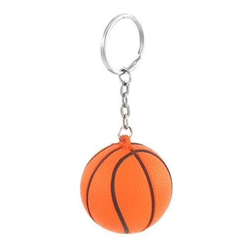 SODIAL(R) Orange Black Basketball Shape Sport Stress Ball Link Chain Key Ring – DiZiSports Store