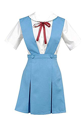 Ya-cos Cosplay Evangelion EVA Ayanami Rei Uniform