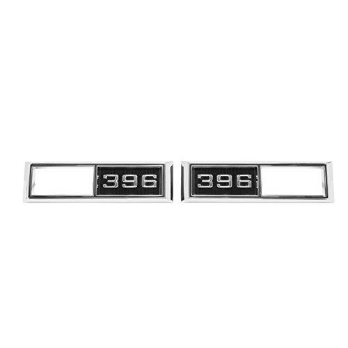 (Eckler's Premier Quality Products 50-203582 Chevelle Front Marker Light Bezels, 396,)